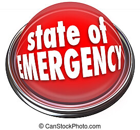 State of Emergency Red Flashing Light Button Warning Danger...