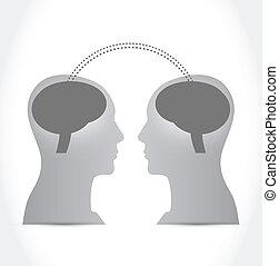 知性, 人々, 脳, コミュニケーション