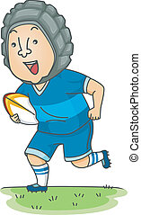 Running Rugby Player