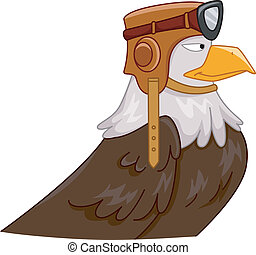 Eagle Pilot Mascot - Mascot Illustration Featuring an Eagle...