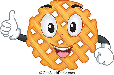 Criss Cross Cut Fry Mascot - Mascot Illustration Featuring a...
