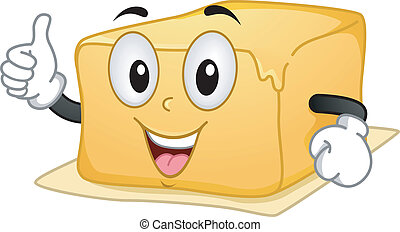 Butter Mascot - Mascot Illustration Featuring a Butter...