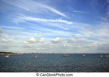 beautiful sky over the sea