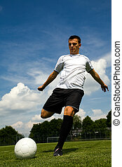 football player - a football player on the field
