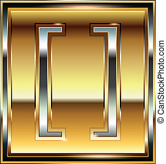 Ingot symbol illustration