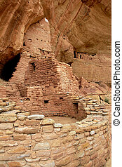 Mesa Verde - Cliff Ruin Stock Image - Closeup of cliff ruin...