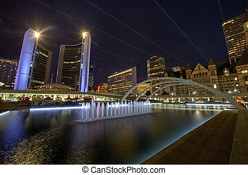 Nathan Phillips Square in Toronto - Nathan Phillips Square,...