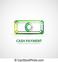 Vector cash payment company logo, business concept - Vector...