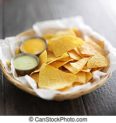mexican corn tortilla chips with jalapeno and chipotle mayo dipping sauce