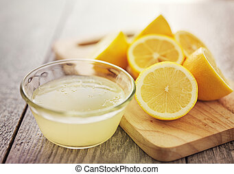freshly squeezed lemon juice in small bowl