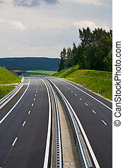 highway to heaven - The new Autobahn in Bavaria, Germany.