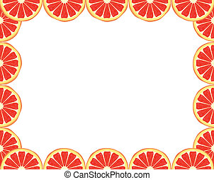 Grapefruit frame - Bright citrus frame made of grapefruit...