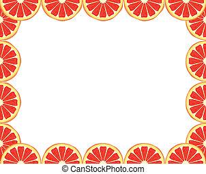 Grapefruit frame - Bright citrus frame made of grapefruit...