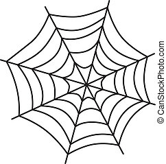 spider web art theme vector art graphic