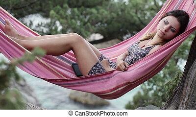 Sleeping Girl in hammock