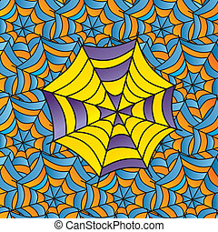 color spiderweb art