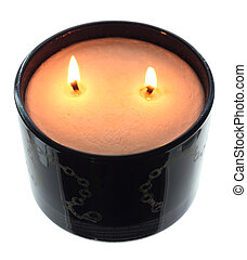 Candle on White Background