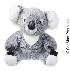 Soft Toy Koala on White Background