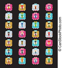 hero character option game assets element vector art graphic...