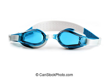 Swim Goggles - Pair of Swim Goggles isolated on a white...