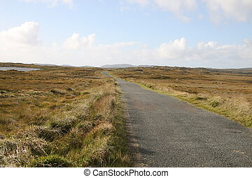 connemara - narrow road in connemara