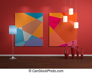 Modern interior composition. - Modern interior composition...