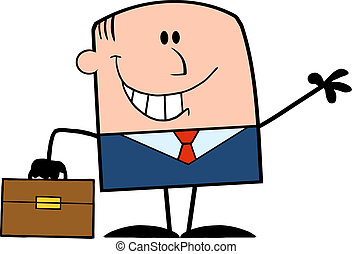 Smiling Businessman Character
