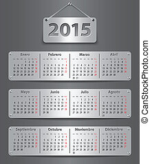 2015 Spanish calendar - Calendar for 2015 in Spanish with...