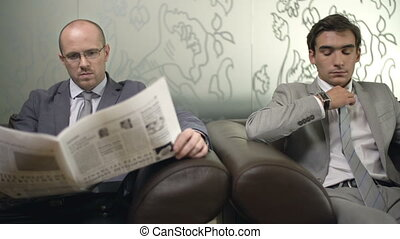 Important Arrangement - Close up of two businessmen in...