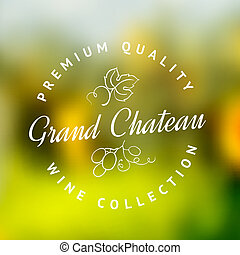 Logo of winery. - Logo of the famous winery chateau...