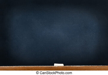 Blackboard with Chalk and Dust - A blackboard chalkboard...