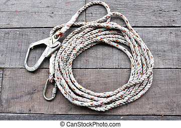 Safty rope - The safety rope for holding object