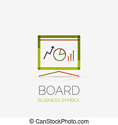 Presentation board company logo, business concept - Vector...