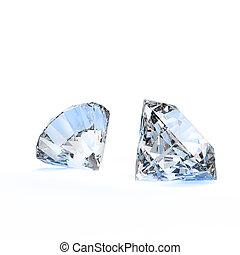 diamantes, 3D, composición, concepto