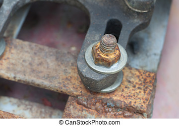 bolt with nut Corrosive rusted