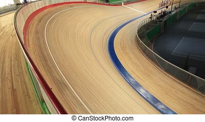 velodrome pursuit race - Bicycle Race velodrome competition...