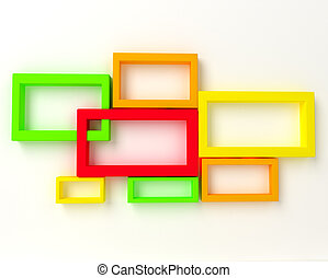 3D Abstract Geometrical Design.