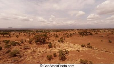 Aerial Masai Mara National Reserve, Kenya
