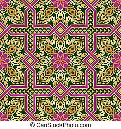 islamic pattern seamless - classic antique islamic vector...