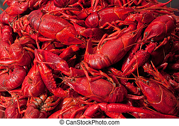 Pile of crawfish ready to eat