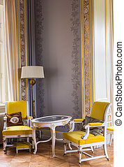Antique chairs and table - Danish neo rococo furnitures
