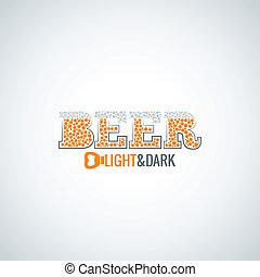 beer glass opener design background