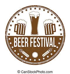 Beer festival stamp