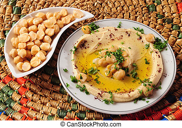 Hummus - Mashed chickpeas with olive oil