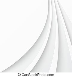 Abstract light background with curved lines. Vector...