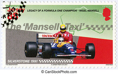 JERSEY - 2013: dedicated Nigel Mansell, Mansell on the...