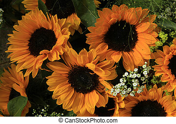 Sunflowers - Big yellow sunflowers in a wedding floral...
