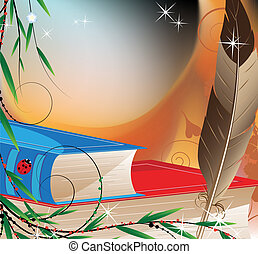Fairytales books - Feather and hardcover books. Magic...