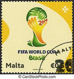MALTA - CIRCA 2014: dedicated the 2014 FIFA World Cup...