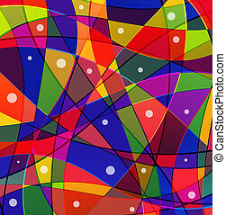 Stained-glass window - Abstract funny background with...